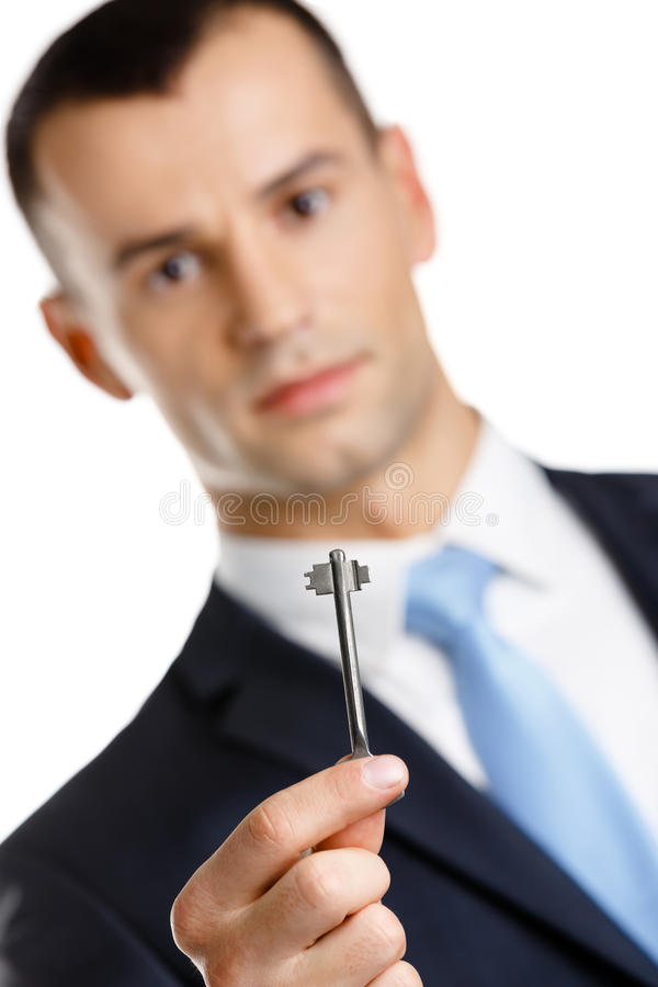 Manager shows key stock image