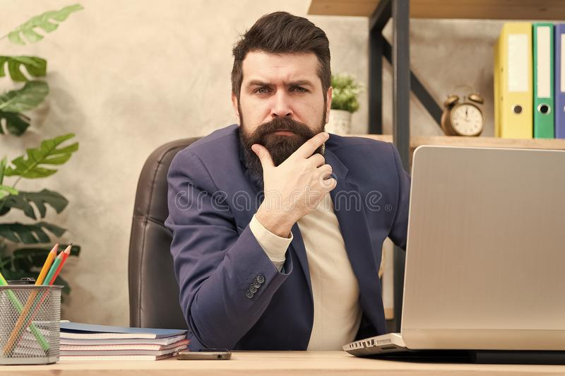 Manager solving business problems. Businessman in charge of business solutions. Developing business strategy. Risky. Business. Thinking about main goal. Man stock photos