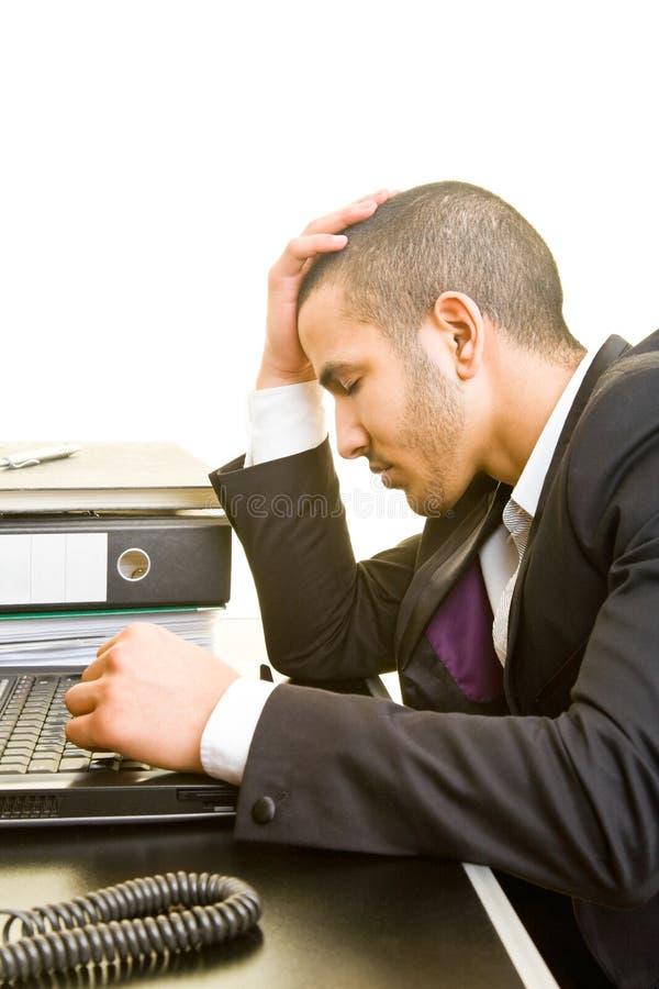 Manager thinking stock photo
