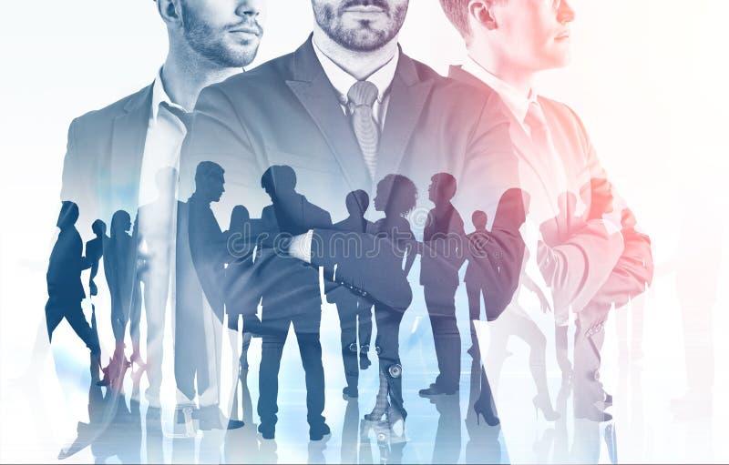 Manager und ihre Kollegen, Führung lizenzfreie abbildung