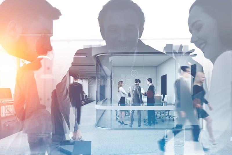 Manager und Leute in Konferenzzimmer vektor abbildung