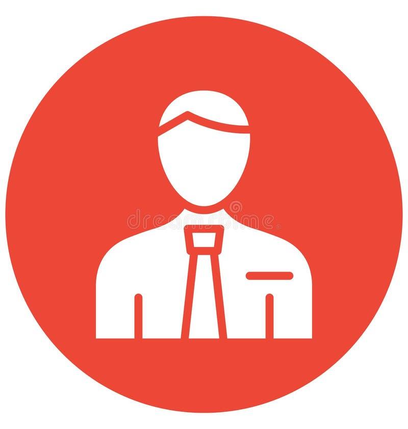 Manager Vector Icon, der leicht ändern oder redigieren kann lizenzfreie abbildung