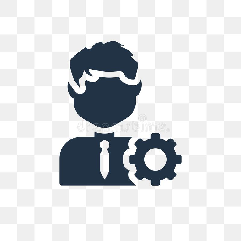 Manager vector icon isolated on transparent background, Manager royalty free illustration