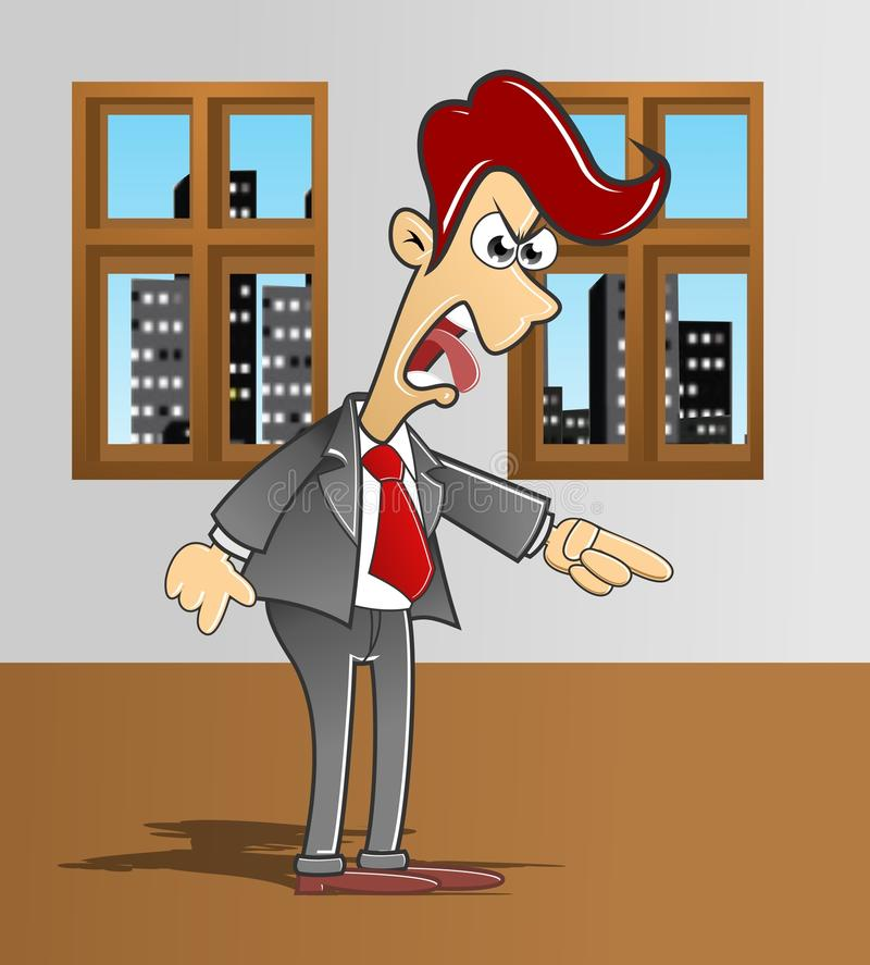 Download Manager who was angry stock illustration. Image of executive - 22254921