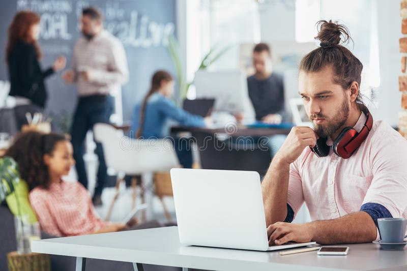 Manager working at modern office royalty free stock photos