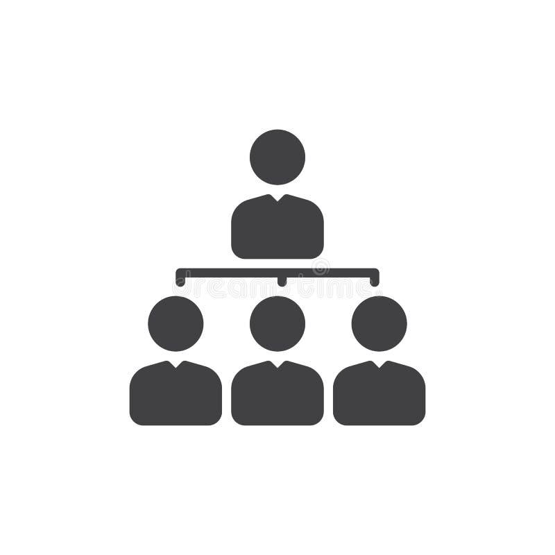 Managerikonenvektor, gefülltes flaches Zeichen, festes Piktogramm lokalisiert auf Weiß Organisationsübersichtsymbol, Logoillustra stock abbildung