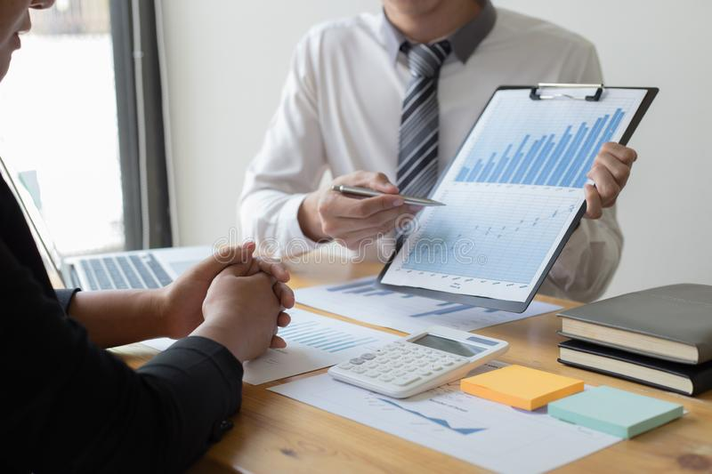 Managers and accountants have checked the company`s finances. In order to prepare the performance measurement for the past 5 year. S to prepare and evaluate the stock photography