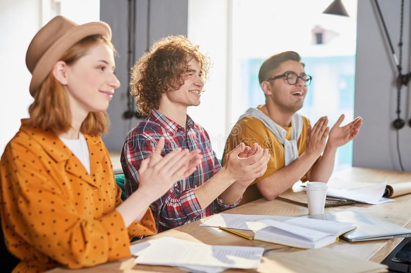 Managers applauding royalty free stock image