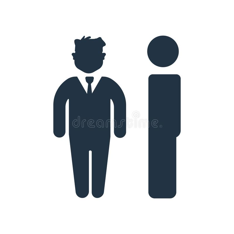 Managers icon vector isolated on white background, Managers sign. Managers icon vector isolated on white background, Managers transparent sign stock illustration