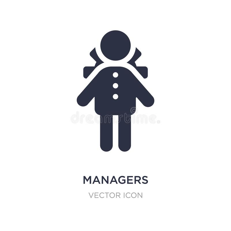 Managers icon on white background. Simple element illustration from People concept. Managers sign icon symbol design royalty free illustration