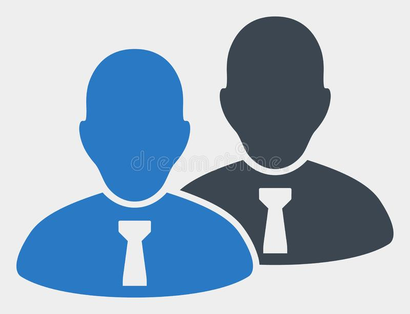 Raster Managers Icon on White Background. Managers raster icon. Illustration contains flat managers iconic symbol isolated on a white background vector illustration