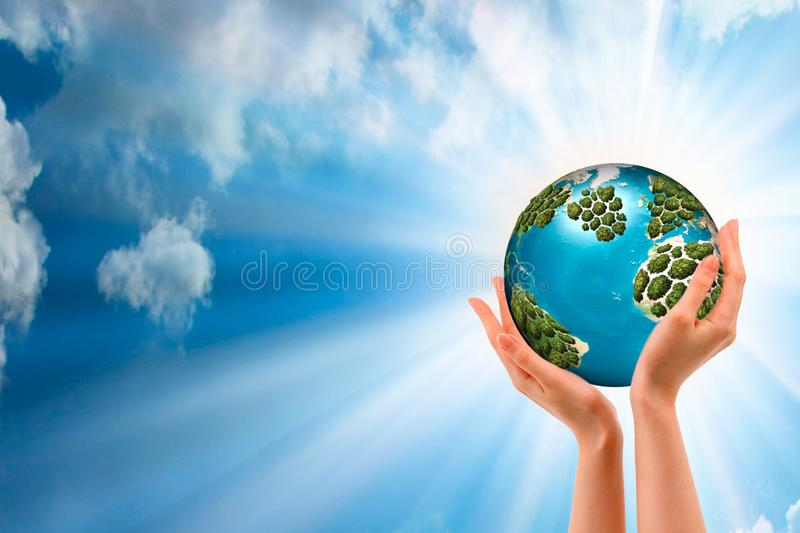 Managing leader of the corporation holds the whole world in his hands. Strategy for the future development of the company. Access. To world markets stock images