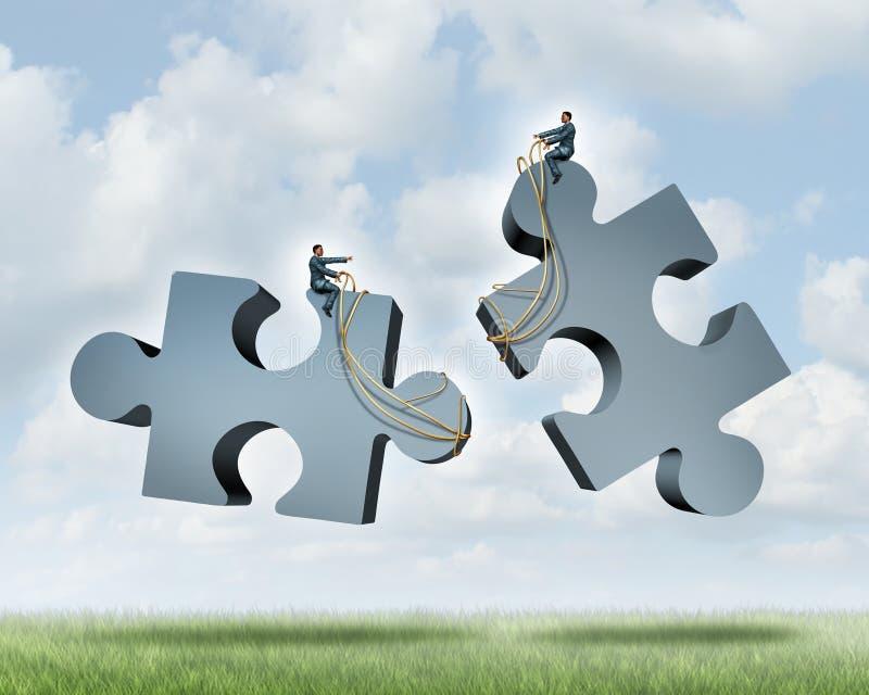 Managing A Partnership vector illustration