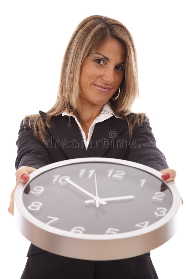 Managing time in business royalty free stock photos