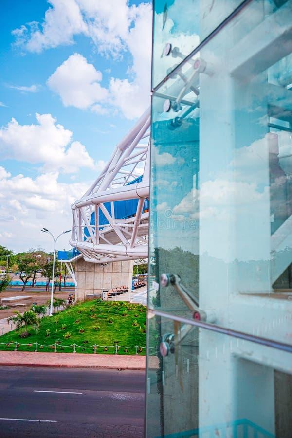 Managua, capitale de vue du Nicaragua Photographie verticale photo stock
