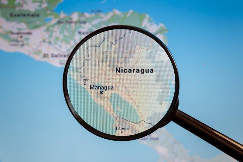 Managua, Nicaragua correspondencia pol?tica imágenes de archivo libres de regalías