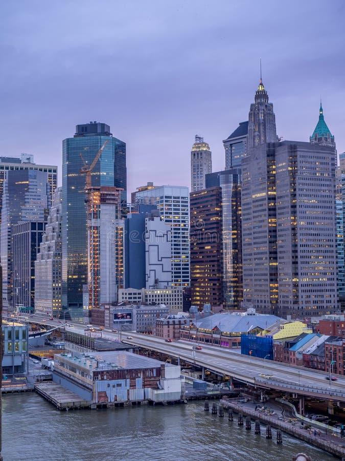 Manahattan-Skyline, New York City lizenzfreie stockfotografie
