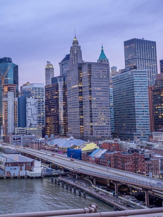 Manahattan-Skyline, New York City lizenzfreies stockbild