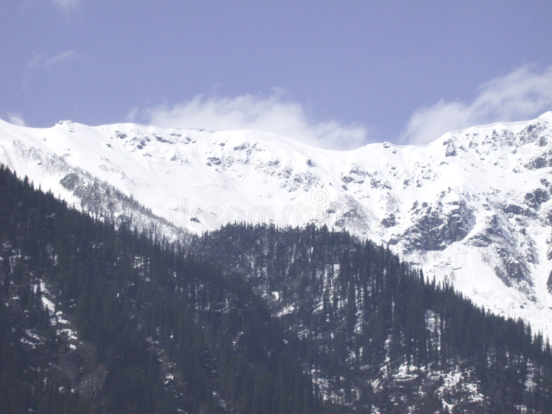 Manali_snow peaks royalty free stock images