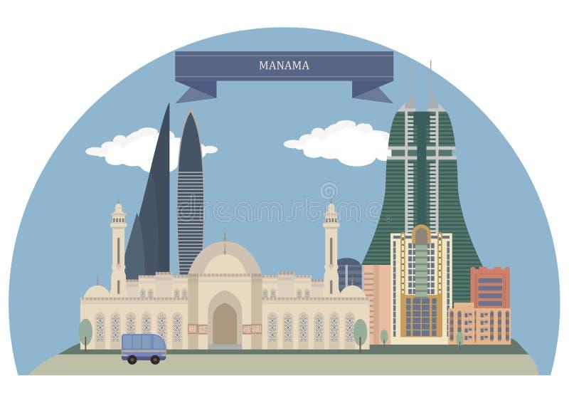 Manama, Bahrein stock illustratie