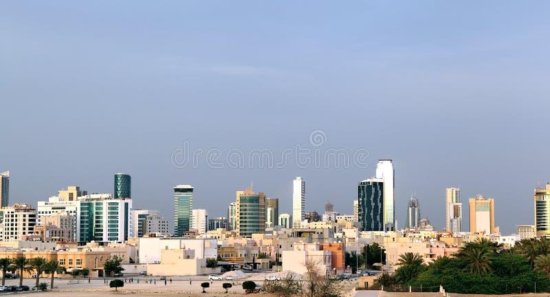 Manama miasta linia horyzontu obraz royalty free