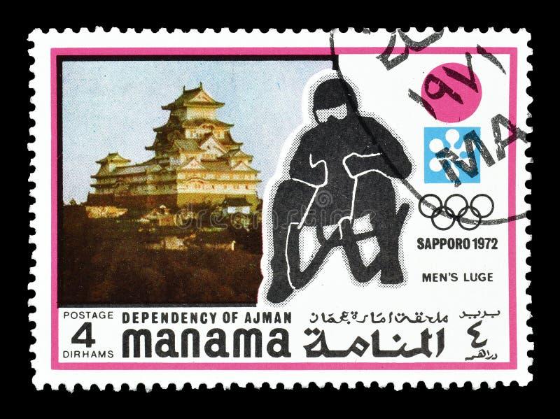 Manama sui francobolli fotografie stock libere da diritti