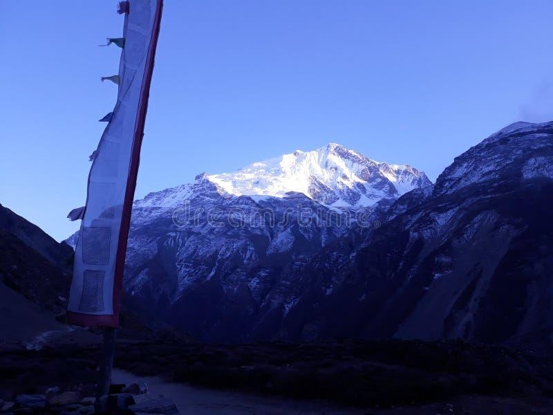 Manang的喜马拉雅山 免版税图库摄影