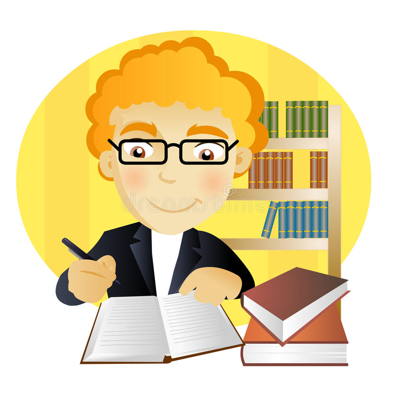 mananteckningsbokwriting stock illustrationer