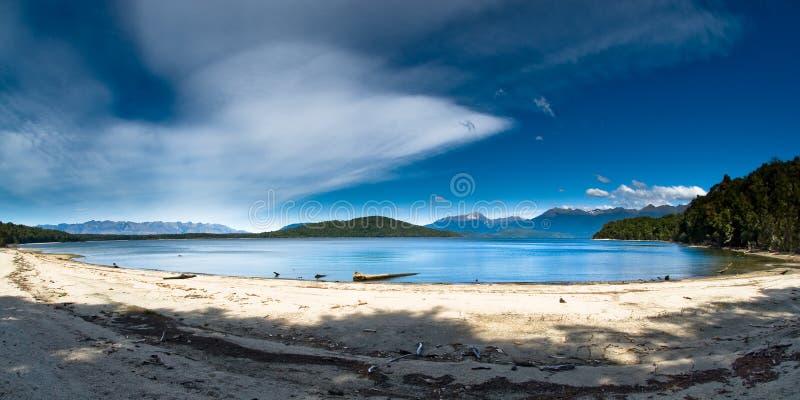 Manapouri van het meer stock foto's