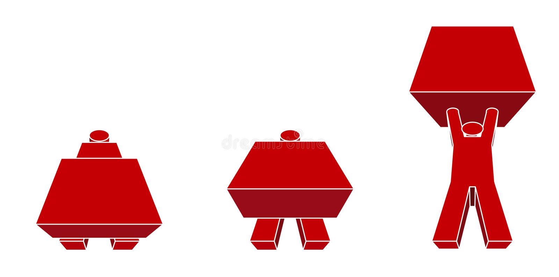 manarbete stock illustrationer