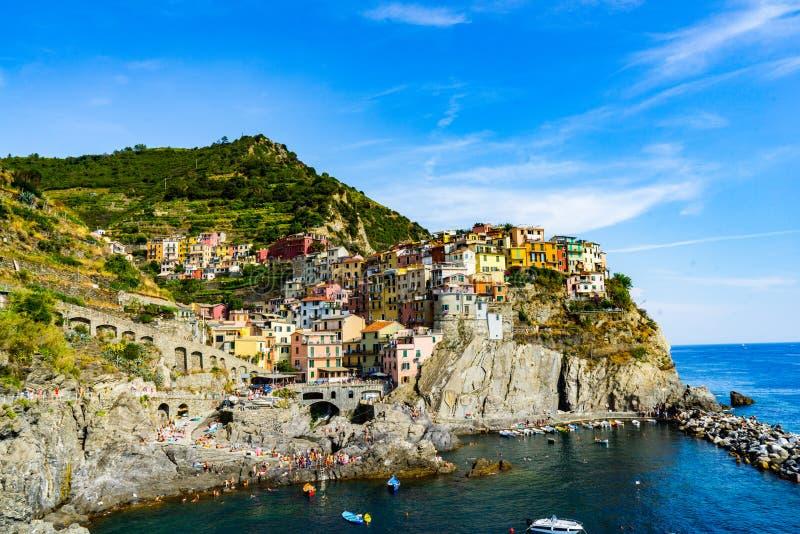 Manarola在Cinque Terre 免版税库存图片
