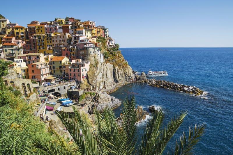 Manarola в Лигурии, северной Италии стоковые фотографии rf