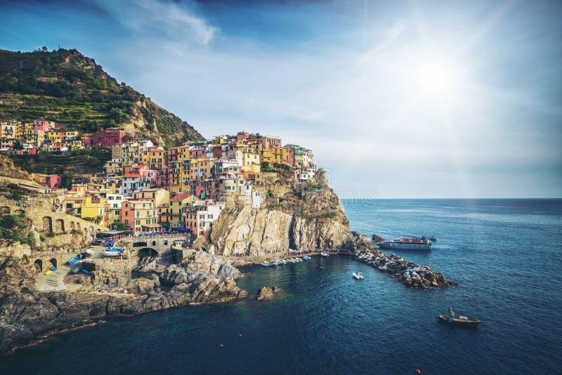 Manarola, Cinque Terre Coast de Itália fotos de stock royalty free