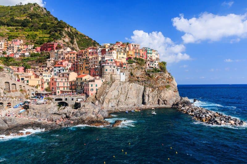 Manarola, Cinque Terre, Italië royalty-vrije stock afbeelding