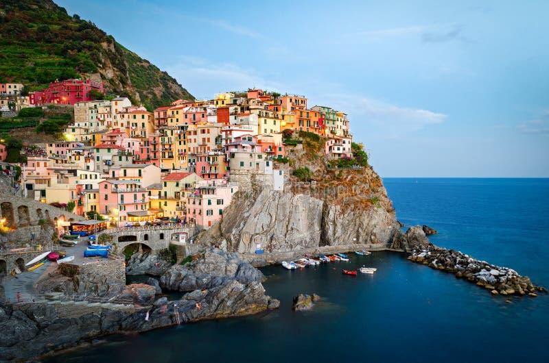 Manarola, Cinque Terre (italiano riviera, Liguria) imagem de stock