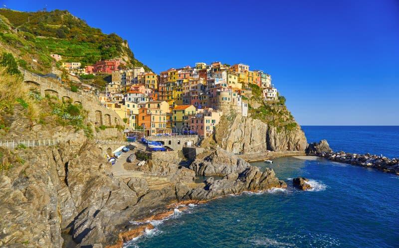 Manarola Cinque Terre Italy Coast royalty-vrije stock afbeelding