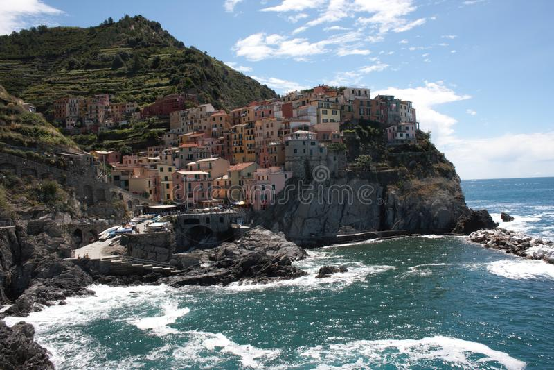 manarola de l'Italie photo stock