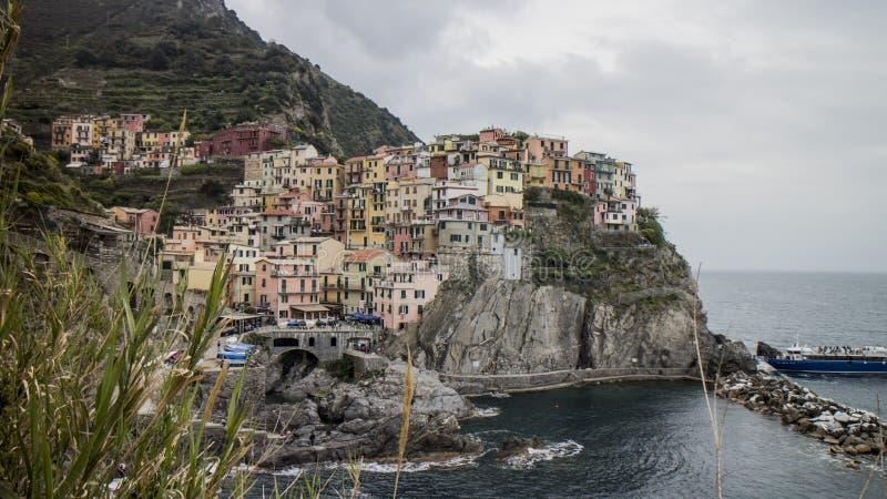 Manarola en Cinque Terre en Italia fotografía de archivo libre de regalías