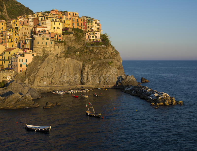 Manarola Golden Hour royalty free stock images