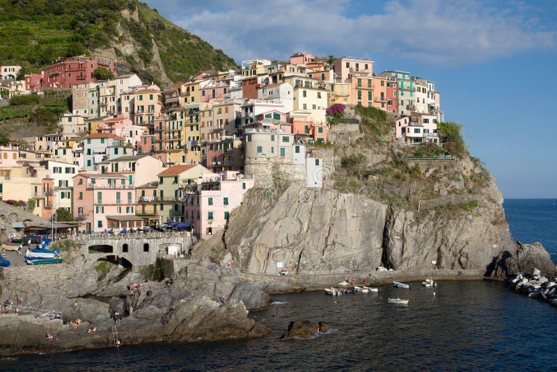 Manarola, Liguria, Italia imagenes de archivo