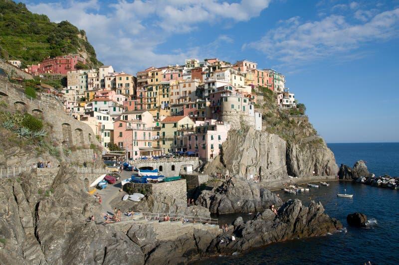 Manarola, Liguria, Italia fotos de archivo