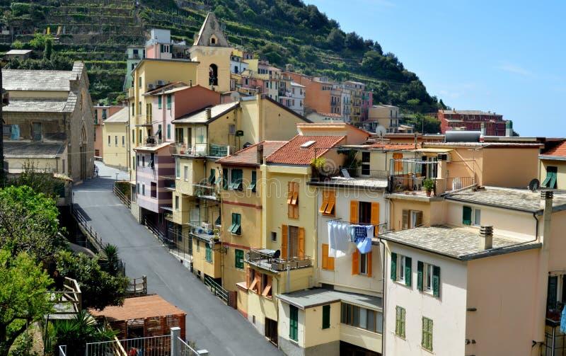 Manarola. (Manaea in the local dialect) is a small town, of the comune (municipality) of Riomaggiore, in the province of La Spezia, Liguria, northern Italy. It royalty free stock image