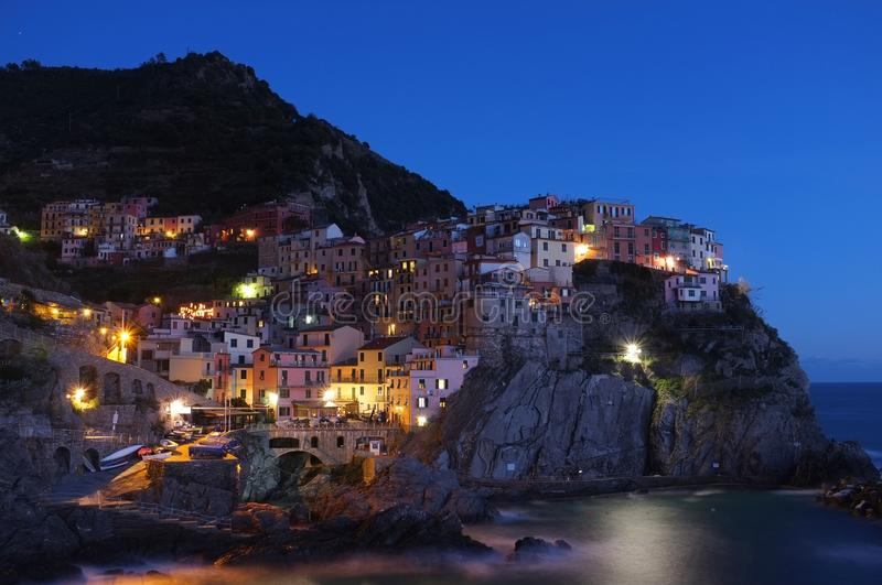 Manarola At Night Free Public Domain Cc0 Image