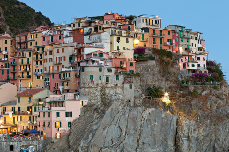 Download Manarola After Sunset, Cinque Terre, Italy Stock Image - Image: 26631953