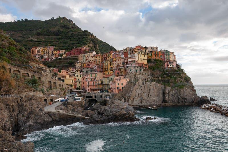 Manarola w Cinque Terre, W?ochy zdjęcia stock