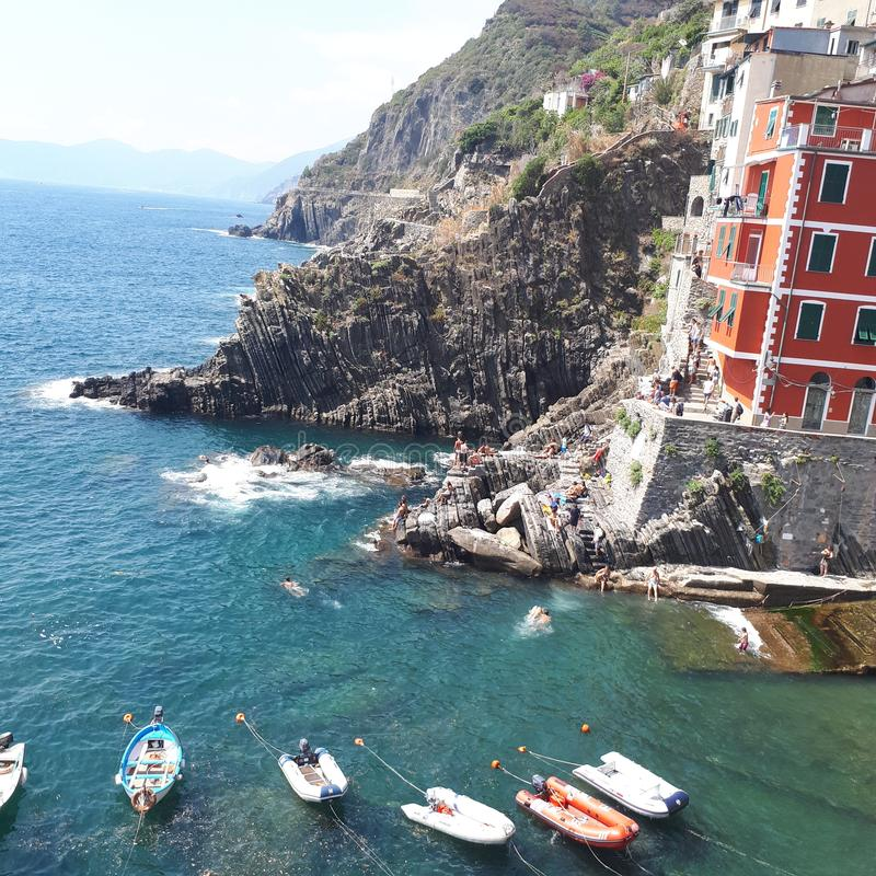 Manarola, water, water resources, reflection, aerial photography. Manarola is water, aerial photography and recreation. That marvel has water resources, water stock photo