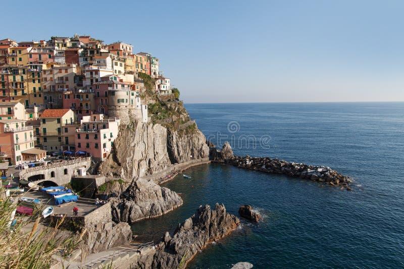 Manaroladorp, Cinque Terre, Italië stock foto
