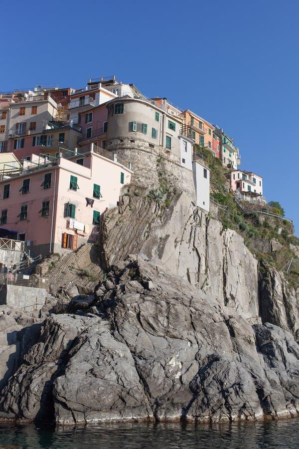 Manaroladorp, Cinque Terre, Italië stock foto's