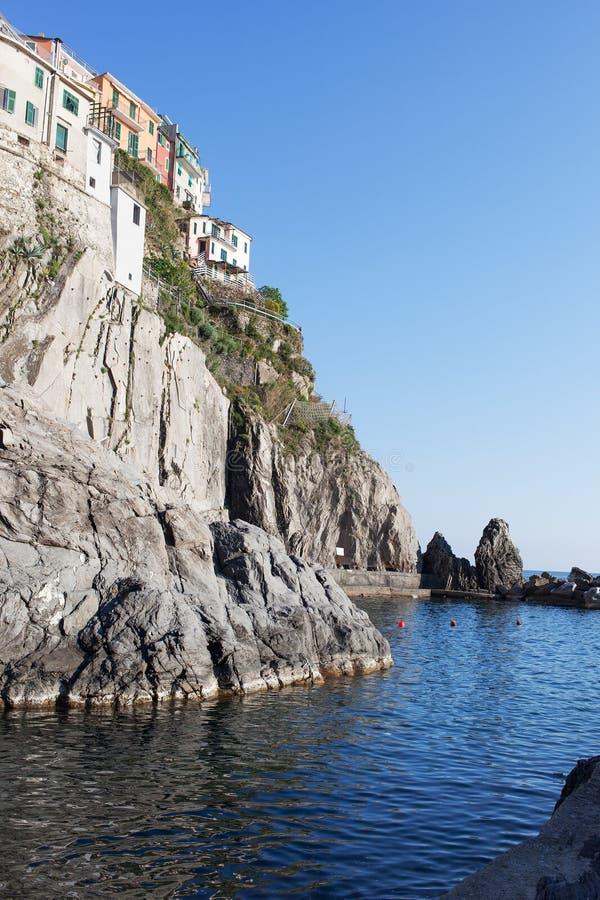 Manaroladorp, Cinque Terre, Italië royalty-vrije stock foto's