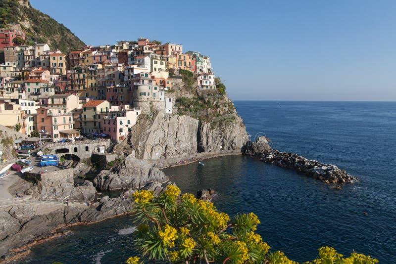 Manaroladorp, Cinque Terre, Italië stock afbeelding